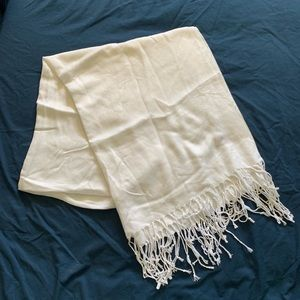 Pashmina white scarf EUC